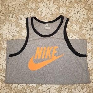 Nike Ace Logo Men's Tank Top Grey & Orange Large